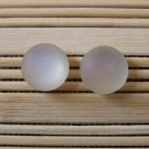 frosty ivory stud earrings