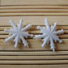 pointy snowflake stud earrings