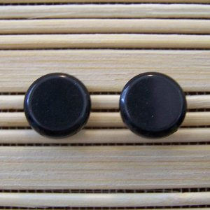 plain black with surgical steel stud earrings