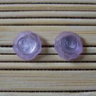 little lilac rosebuds stud earrings
