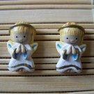 angel stud earrings