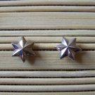 silver studded stars stud earrings