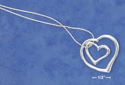 STERLING SILVER NECKLACE- DOUBLE HEART **FREE SHIPPING**