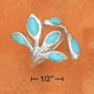 STERLING SILVER- TURQUOISE OPEN BRANCH RING