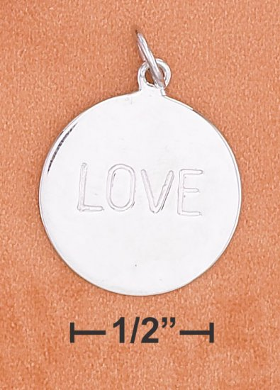 """STERLING SILVER- """"LOVE"""" CHARM **FREE SHIPPING ITEM**"""