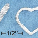 STERLING SILVER- HEART HUGGER EARRINGS W/CZ