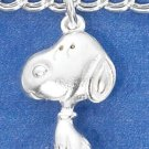"STERLING SILVER 7"" ""PEANUTS"" SNOOPY CHARM BRACELET  **FREE SHIPPING**"