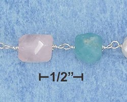 STERLING SILVER BRACELET W/ AMAZONITE, ROSE QUARTZ, JADE, AND FRESH WATER PEARLS **FREE SHIPPING**