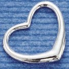 STERLING SILVER 26MM WIDE LARGE FLOATING HEART CHARM  **FREE SHIPPING**