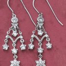 STERLING SILVER FANCY CZ EARRINGS **FREE SHIPPING**