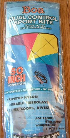 """FLIGHT ZONE BOA Dual Control Sport Kite 50"""" with String and Holder"""