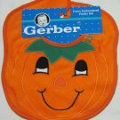 Gerber Pumpkin Face Embroidered Baby Feeder Bib 11 x 9 In