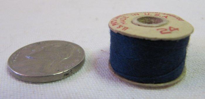 5 Prewound Cotton Thread Bobbins All Blue Size A 30 Yd Each