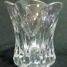 Crystal Votive Candle Holder Fluted Top Spired Cuts 3.5 In