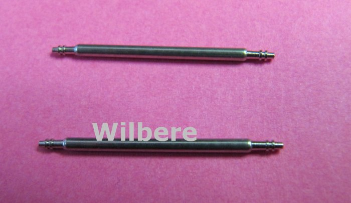 Set of Two Stainless Steel Spring Bars Assorted Sizes 7mm to 24mm for Watch Bands
