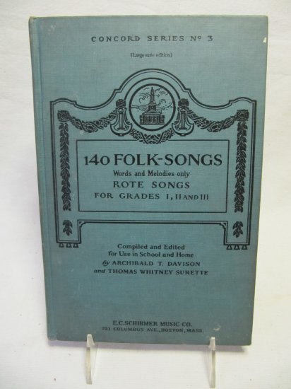 Vintage 140 Folk Songs for Grades I, II, and III Concord Series No. 3 Hardback Book