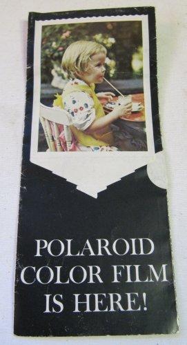Vintage Polaroid Polacolor Color Film Launch Mailer Brochure c. 1963