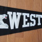WESTTOWN 1957 Vintage Pennant Black White Letters Cougar