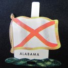 Vintage Alabama State Metal Tab Pin White Flag Red Cross Facts Confederate 2 In