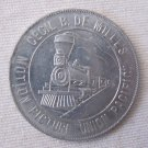 Vintage c 1939 ALCOA DE MILLE Union Pacific Train Motion Picture Aluminum Advertising Token 1.25 In