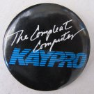 Vintage 1980s KAYPRO THE COMPLEAT COMPUTER Pinback Button 2.25 In Black Blue White