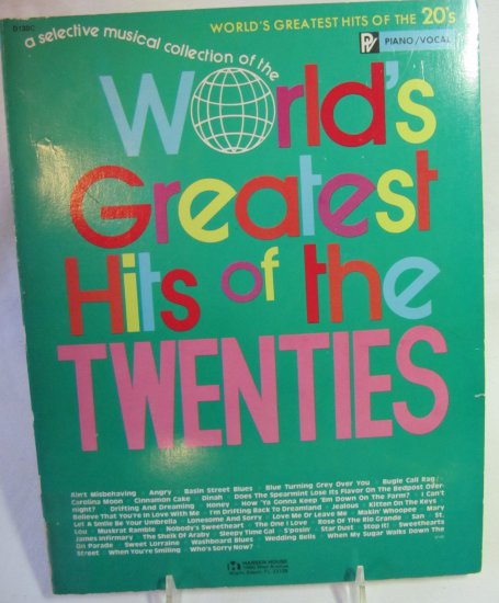 Vintage World's Greatest Hits of the Twenties Softback Book Piano Vocals