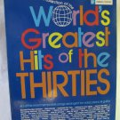 Vintage World's Greatest Hits of the Thirties Softback Music Book Piano Vocals