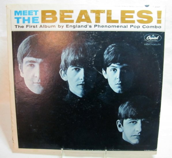 BEATLES Meet the Beatles LP Record Album Capitol T-2407 Monophonic Microgroove 1964 Original