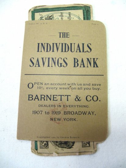 Antique 1905 London Needle Co. No. 40 BB Individuals Savings Bank Needle Set Advertisement Card