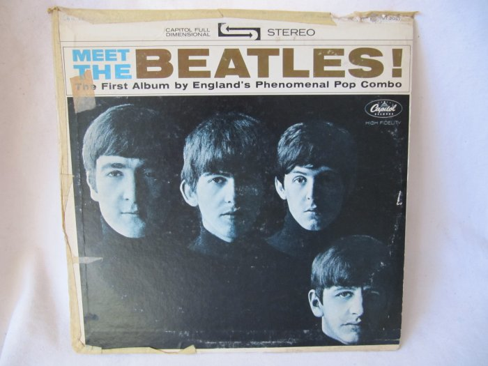 BEATLES Meet the Beatles LP Record Album Capitol ST-2407 Stereo Black Label 1964 Original