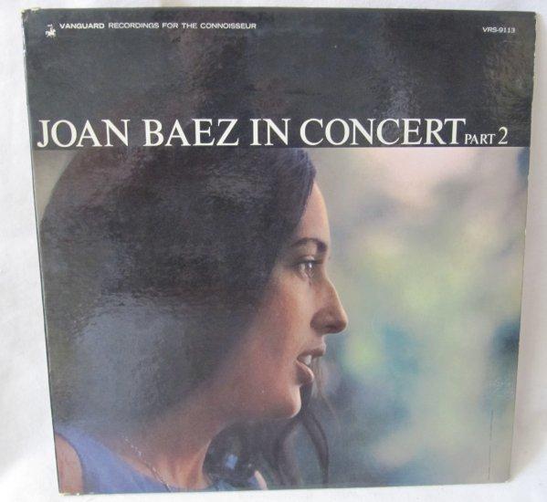 JOAN BAEZ IN CONCERT PART 2 LP Record Album Vinyl Vanguard VRS-9113 Mono 1963