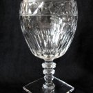 HAWKES Crystal Water Goblet Square Base Clear Notched Stem 6.25 In Small Chip in Base Side WG3