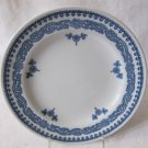 Set of 3 Antique c 1912 ROYAL WORCESTER VITREOUS Luncheon Plates RW42 Blue White 9.25 In