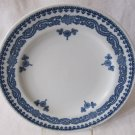 Set of 3 Antique c 1917 ROYAL WORCESTER VITREOUS Luncheon Plates RW42 Blue White 9.25 In