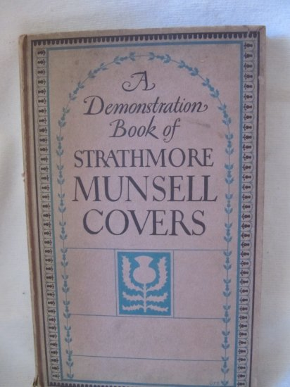 Rare Antique 1925 Demonstration Book of Strathmore Munsell Covers Printing Hardcover Mittineague