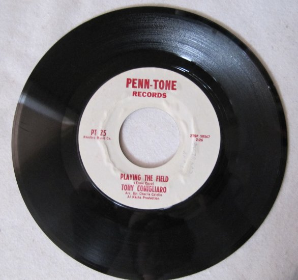 TONY CONIGLIARO Red Sox 1964 45 Vinyl Record Playing the Field Penn-Tone PT25