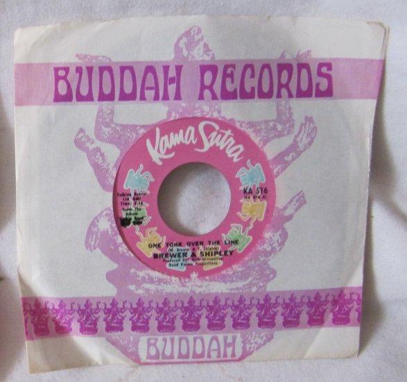 BREWER & SHIPLEY 1971 45 Vinyl Record One Toke Over the Line Buddah Kama Sutra KA 516 Original
