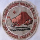Vintage Boy Scout 1982 Patch Badge Camp Cherry Valley San Gabriel Valley Council Bison Disney 4 Inch