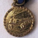 Vintage Pinewood Derby Medal w Ribbon Pin Cub Scout BSA 7/8 Inch