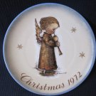 B. HUMMEL SCHMID 1972 Ltd Ed Christmas Plate Angel mit Flute with Original Box