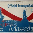Vintage Official Massachusetts Map Road Highway Transportation 1976 Bicentennial Dukakis