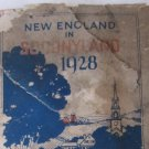 Vintage 1928 Road Map New England in SoconyLand from Socony Gasoline Standard Oil Company