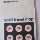 Vintage 1972 Highway Road Map Southern New England from Mobil Oil Company and Rand McNally