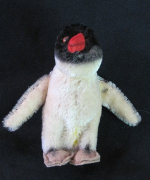 Vintage Steiff Penguin with Button Mohair 5 Inches Tall