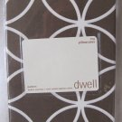 DWELL King Pillowcases Set of Two Chocolate Brown White Rings Egyptian Cotton 210 Thread Ct NIP