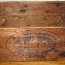 Large Vintage Hood Rubber Canvas Footwear Wooden Crate Box 26.5x16x12 Inches Advertising