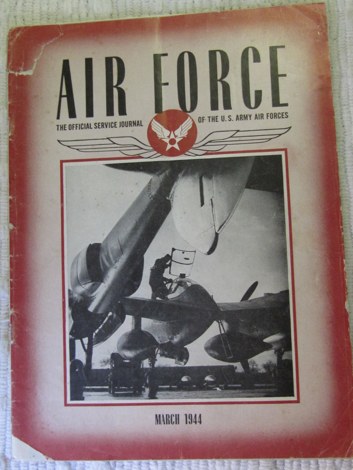Air Force Official Service Journal U.S. Army Air Forces Vol. 27 No. 3 Magazine March 1944 Issue