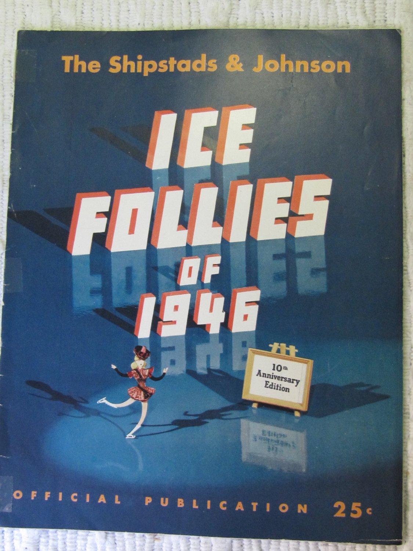 Vintage Ice Follies of 1946 Program Shipstads & Johnson Nocturne