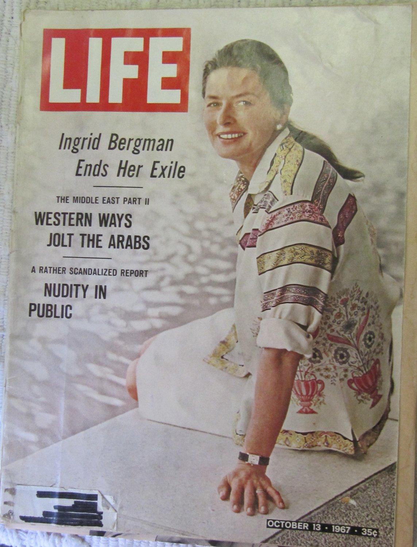 Life Magazine October 13, 1967 Issue Ingrid  Bergman Cover