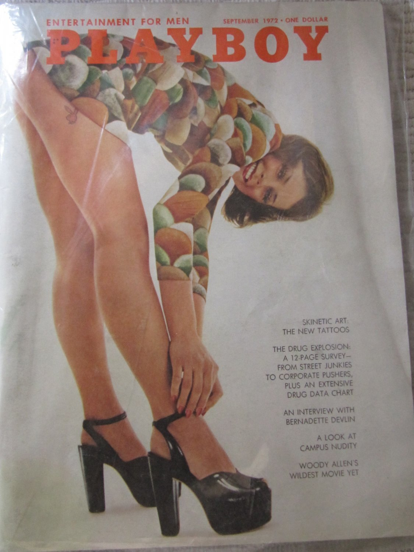Vintage Playboy Magazine September 1972 Issue